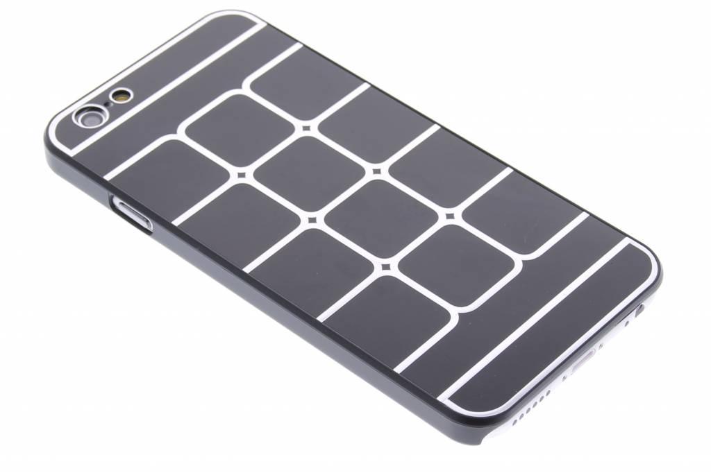 Zwarte luxe brushed aluminium hardcase hoesjes voor de iPhone 6 / 6s