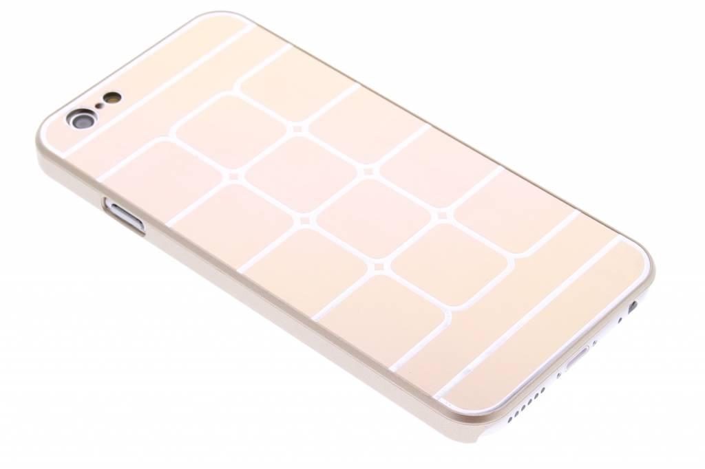 Gouden luxe brushed aluminium hardcase hoesjes voor de iPhone 6 / 6s