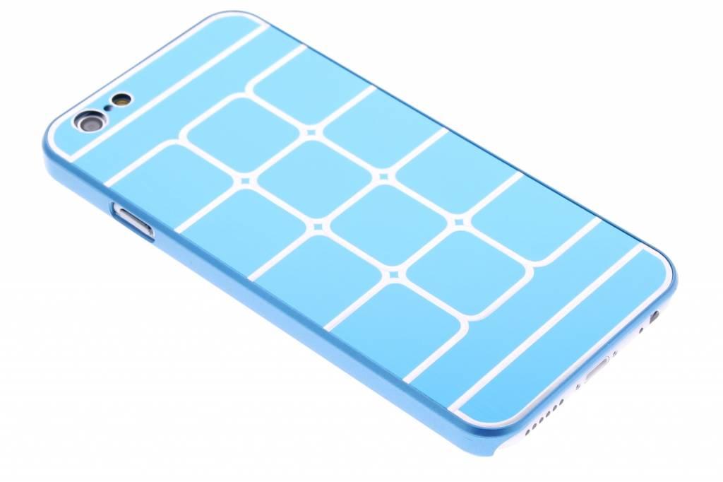 Blauwe luxe brushed aluminium hardcase hoesjes voor de iPhone 6 / 6s