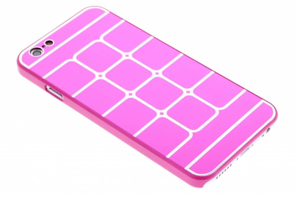 Fuchsia luxe brushed aluminium hardcase hoesjes voor de iPhone 6 / 6s