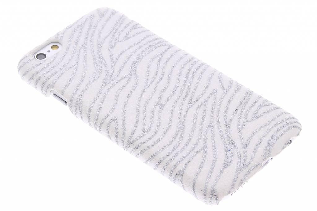 Witte zebra glitter hardcase voor de iPhone 6 / 6s