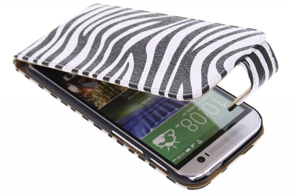Zebra flipcase voor de HTC One M8 / M8s