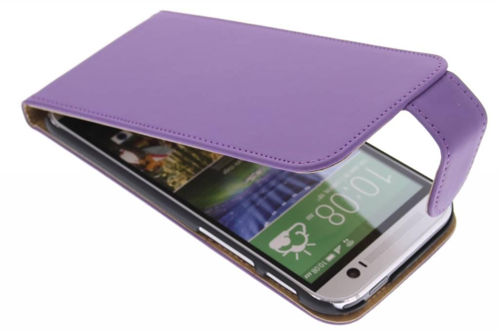 Paarse classic flipcase voor de HTC One M8 / M8s