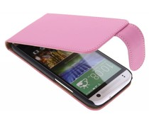 Roze classic flipcase HTC One Mini 2