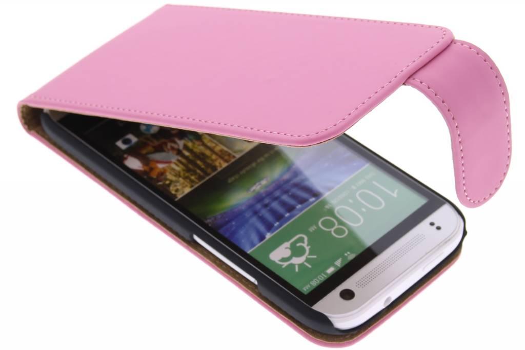 Roze classic flipcase voor de HTC One Mini 2