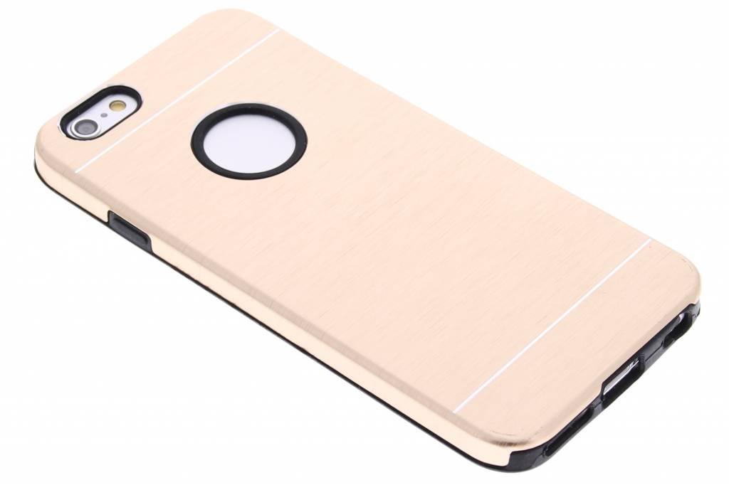 Gouden brushed aluminium siliconen hardcase voor de iPhone 6 / 6s