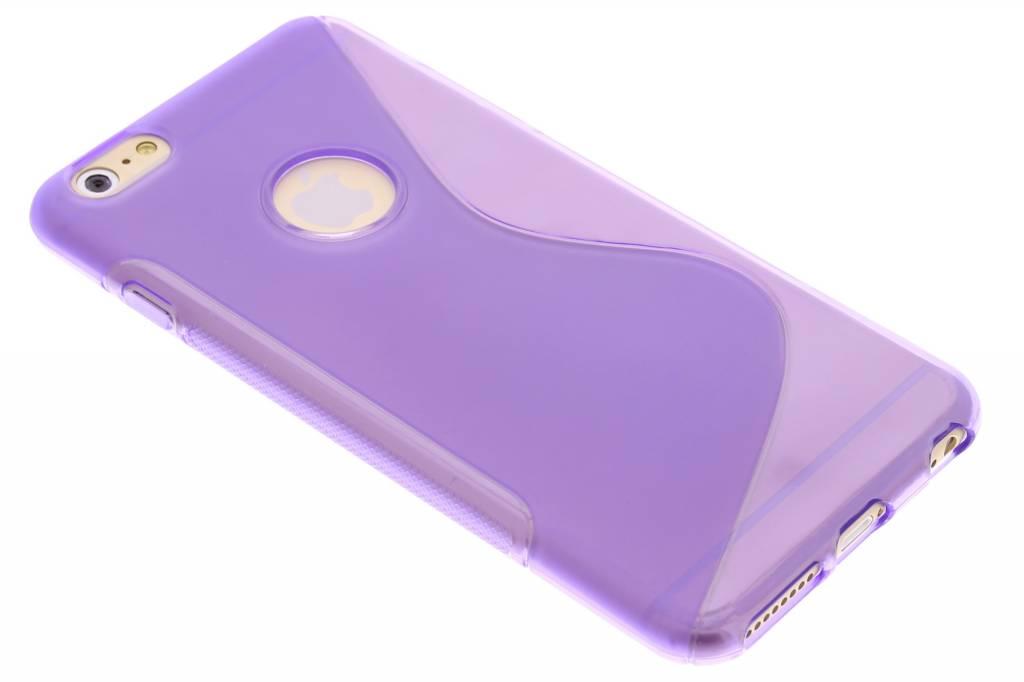 Paars S-line TPU hoesje voor de iPhone 6(s) Plus