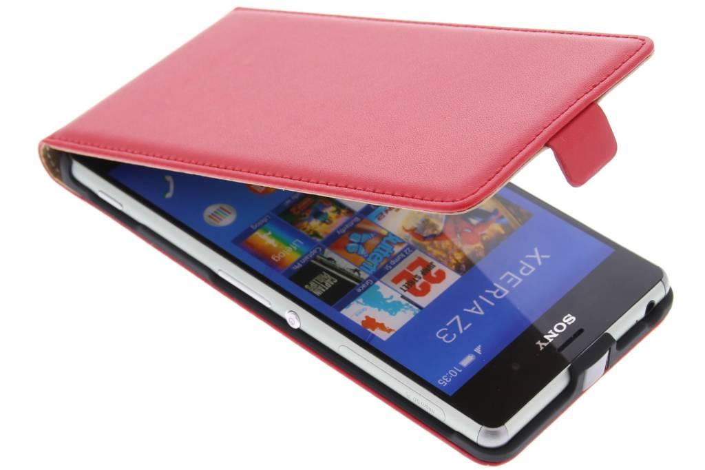 Rode luxe flipcase voor de Sony Xperia Z3