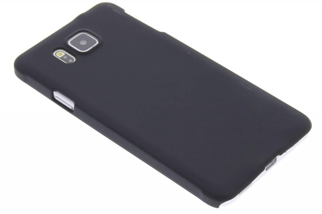 Zwart effen hardcase hoesje voor de Samsung Galaxy Alpha
