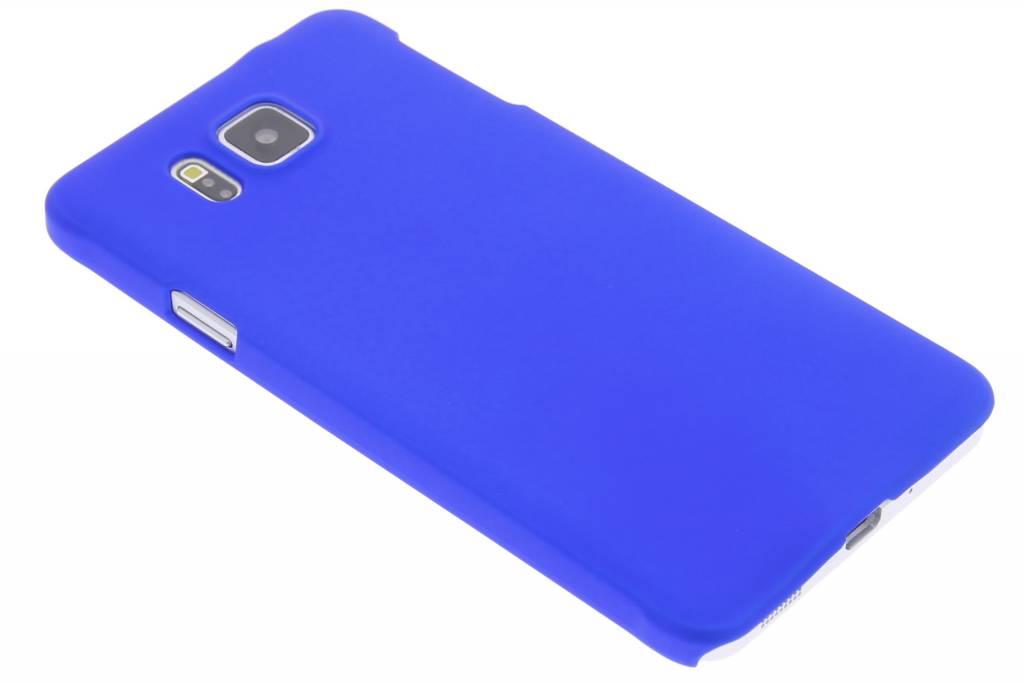 Blauw effen hardcase hoesje voor de Samsung Galaxy Alpha
