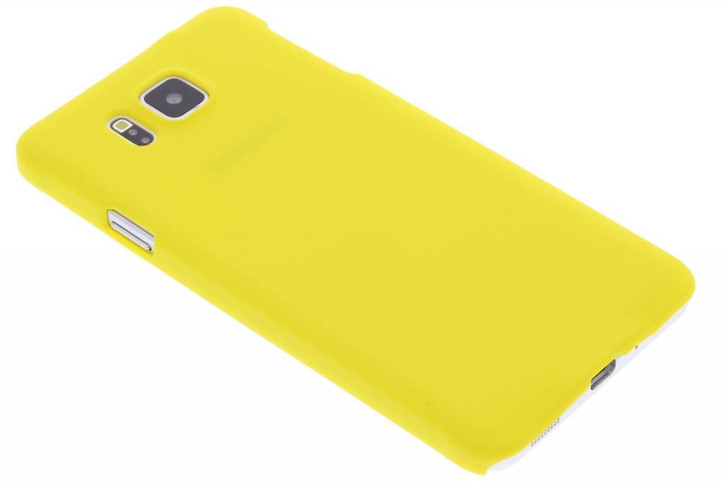 Geel effen hardcase hoesje voor de Samsung Galaxy Alpha