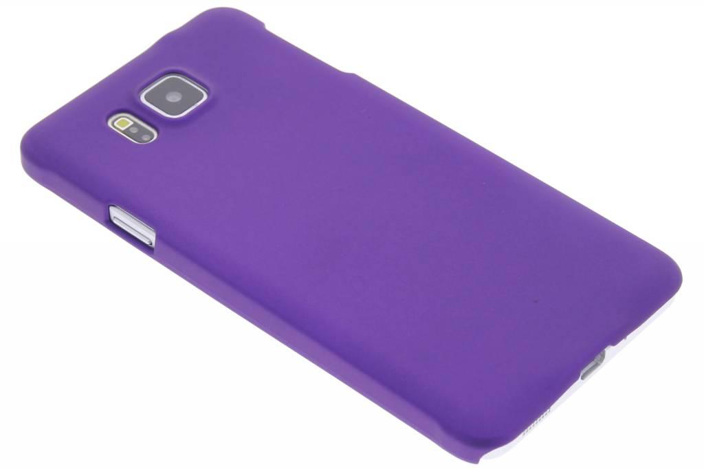Paars effen hardcase hoesje voor de Samsung Galaxy Alpha