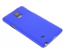 Blauw effen hardcase Samsung Galaxy Note 4