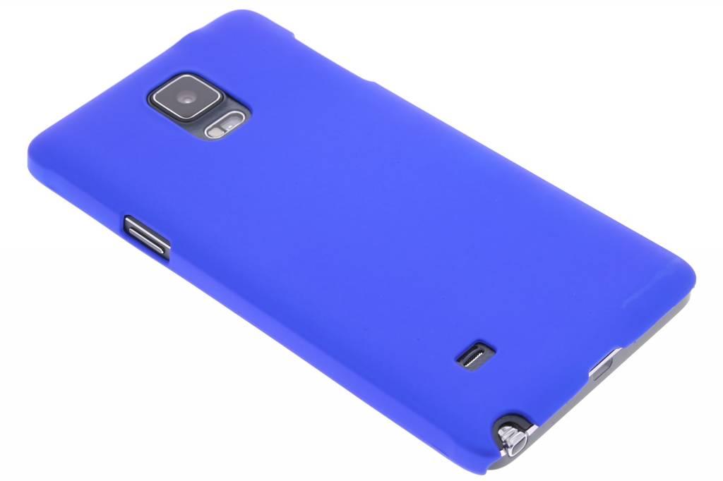 Blauw effen hardcase hoesje voor de Samsung Galaxy Note 4