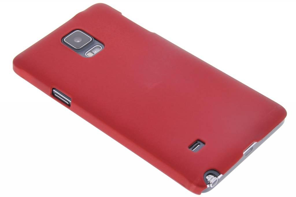 Rood effen hardcase hoesje voor de Samsung Galaxy Note 4