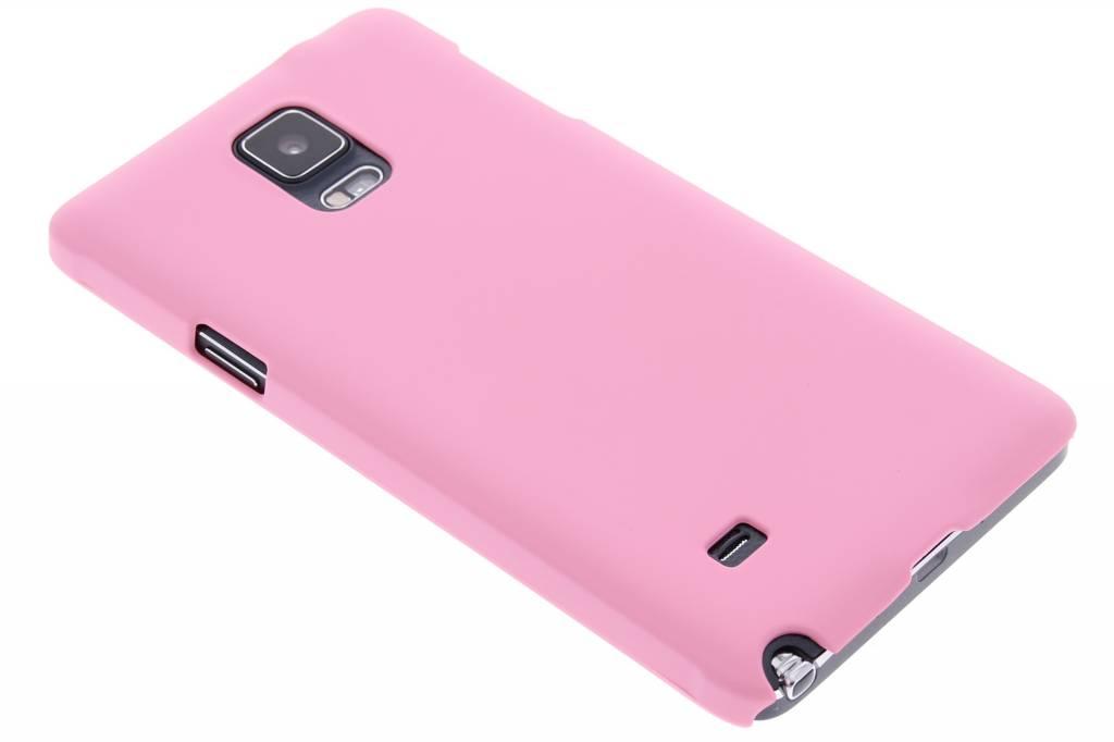 Roze effen hardcase hoesje voor de Samsung Galaxy Note 4