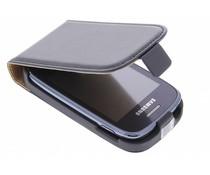 Zwart luxe flipcase Samsung Galaxy Pocket Neo