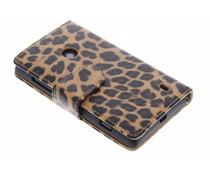Bruin luipaard booktype hoes Nokia Lumia 520