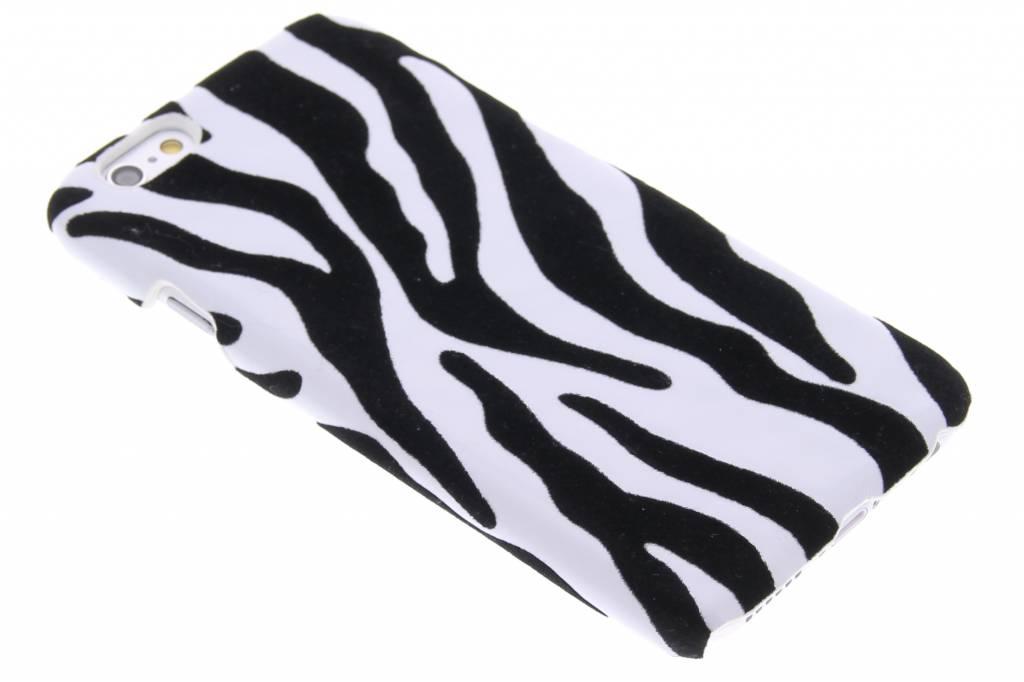 Zebra flock hardcase hoesje voor de iPhone 6 / 6s
