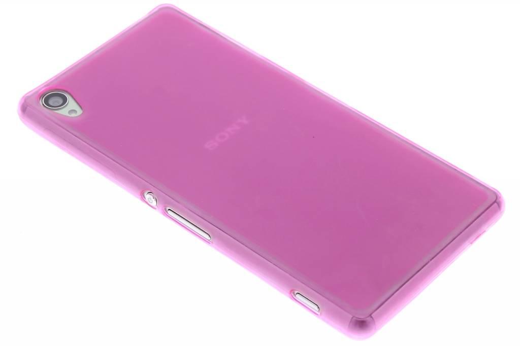 Fuchsia hard siliconen hoesje voor de Sony Xperia Z3