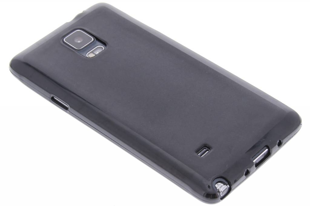 Zwart hard siliconen hoesje voor de Samsung Galaxy Note 4
