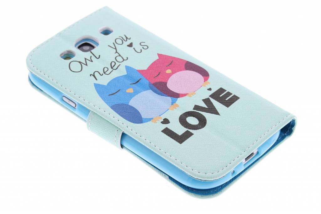 Hiboux Conception Booktype Case Tpu Pour Samsung Galaxy S3 / Neo uzMkL0