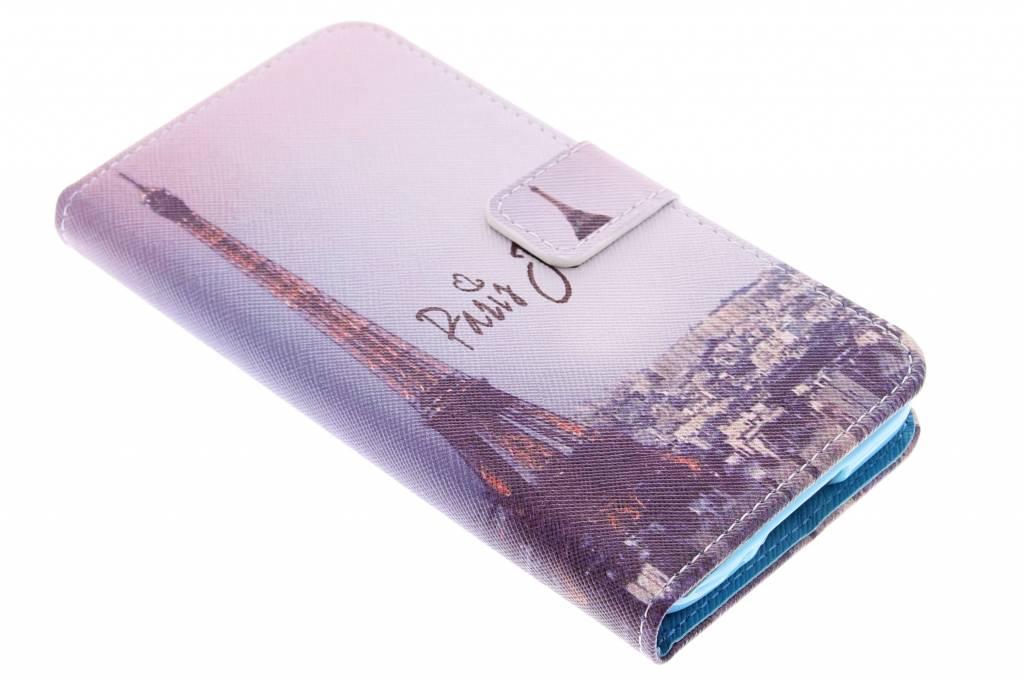 Parijs design TPU booktype hoes voor de Samsung Galaxy S5 (Plus) / Neo