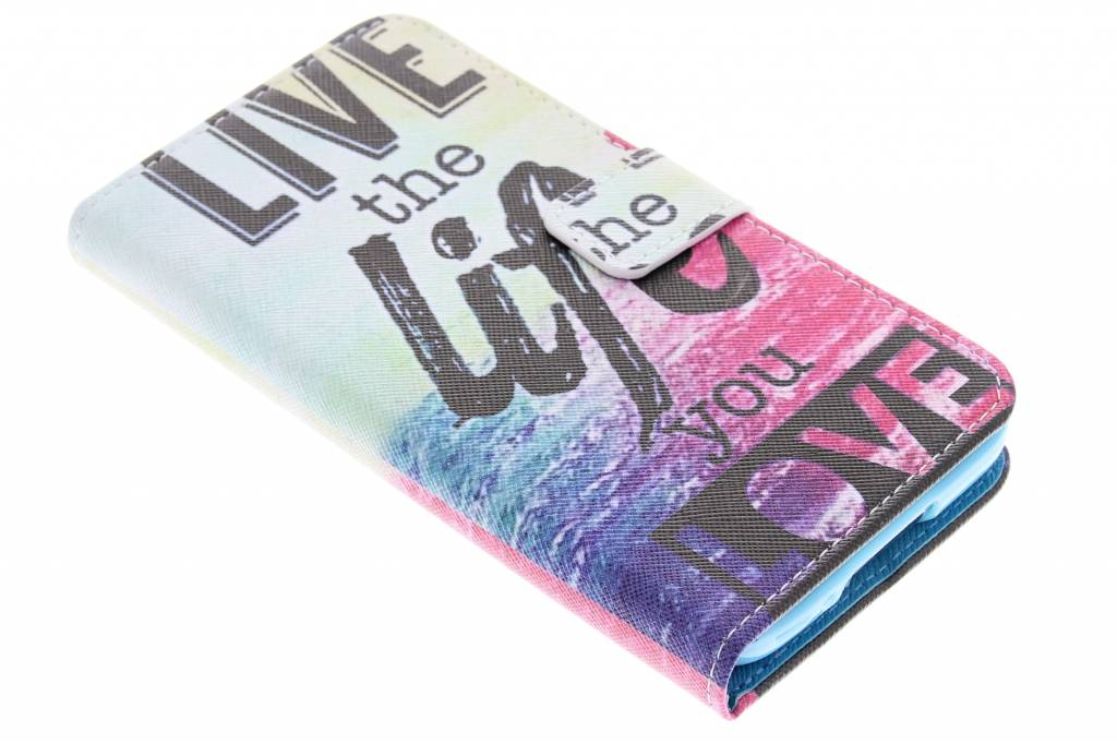 Live the life design TPU booktype hoes voor de Samsung Galaxy S5 (Plus) / Neo