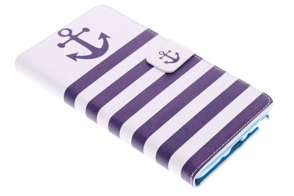Anker design TPU booktype hoes voor de Samsung Galaxy Note 4