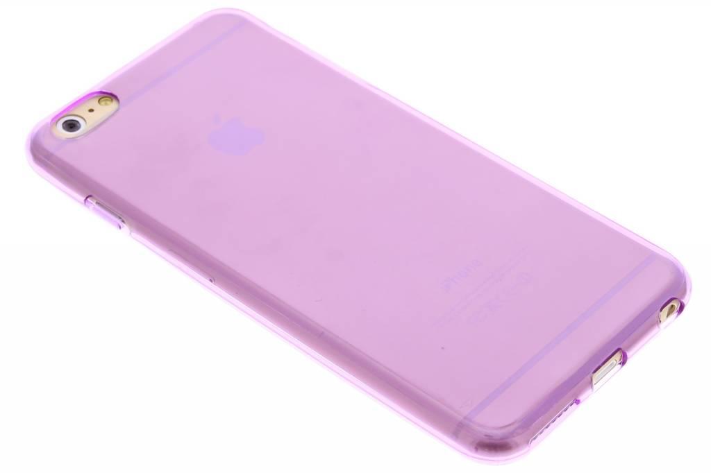 Paarse transparante gel case voor de iPhone 6(s) Plus