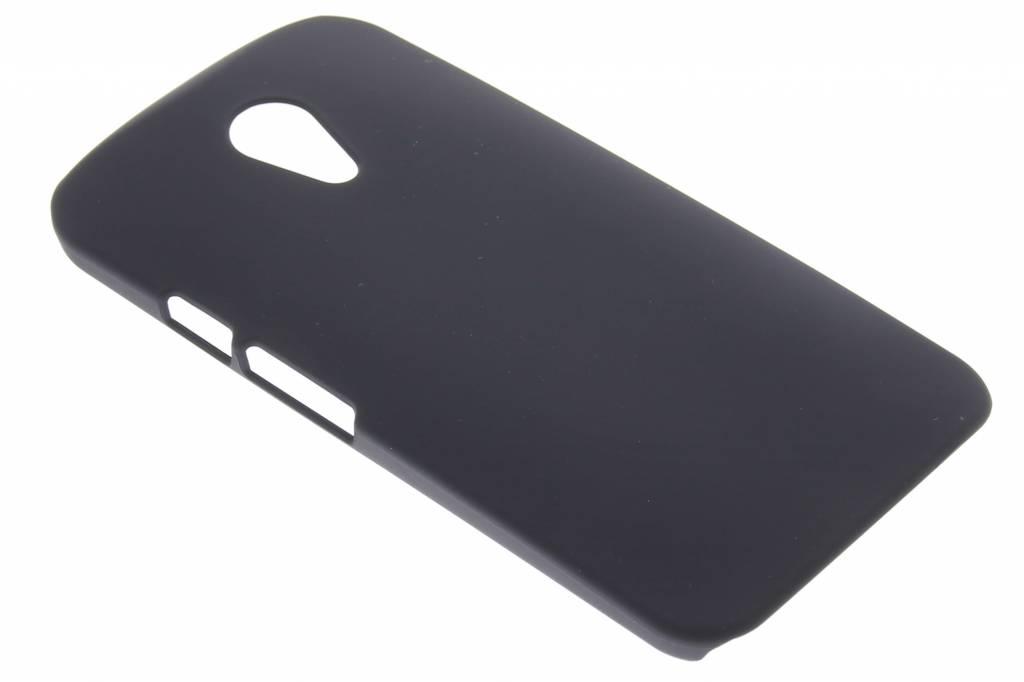 Zwart effen hardcase hoesje voor de Motorola Moto G 2nd Gen 2014