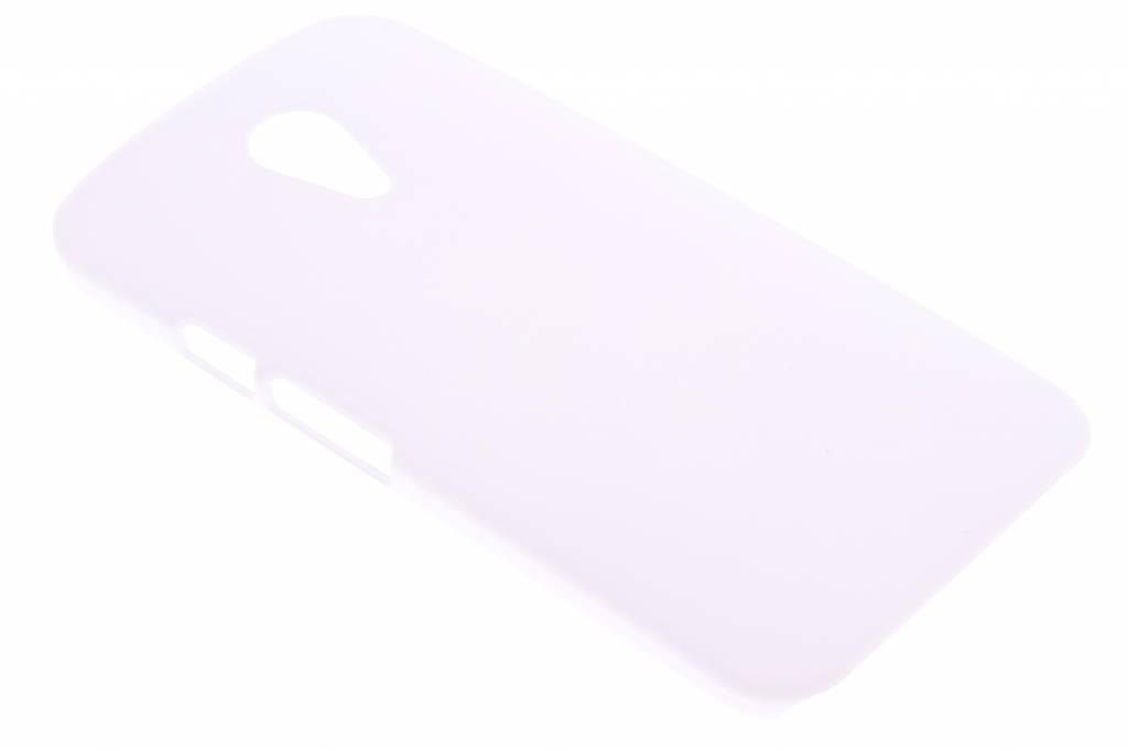 Wit effen hardcase hoesje voor de Motorola Moto G 2nd Gen 2014