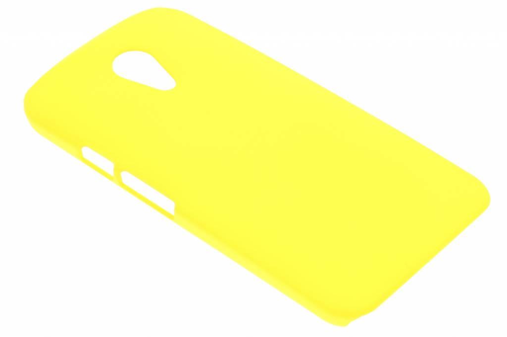 Geel effen hardcase hoesje voor de Motorola Moto G 2nd Gen 2014