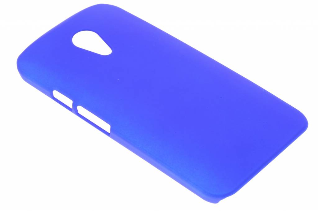 Blauw effen hardcase hoesje voor de Motorola Moto G 2nd Gen 2014