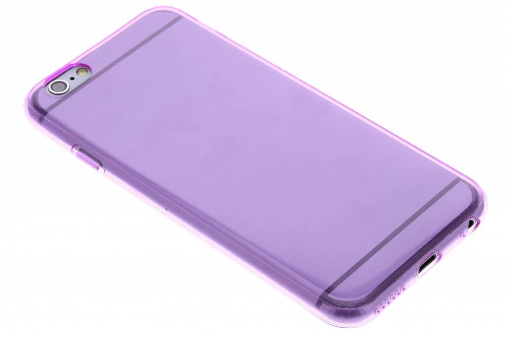 Paarse transparante gel case voor de iPhone 6 / 6s