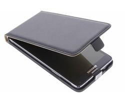 Zwart luxe flipcase Samsung Galaxy Note 4