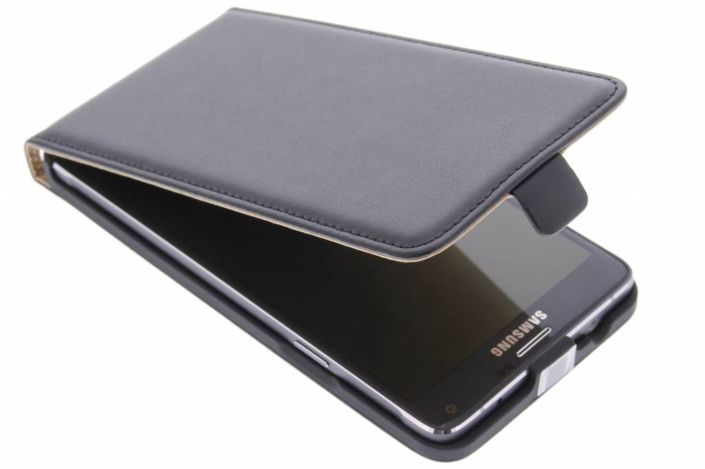 Zwarte luxe flipcase voor de Samsung Galaxy Note 4