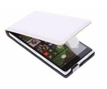 Wit luxe flipcase Nokia Lumia 830