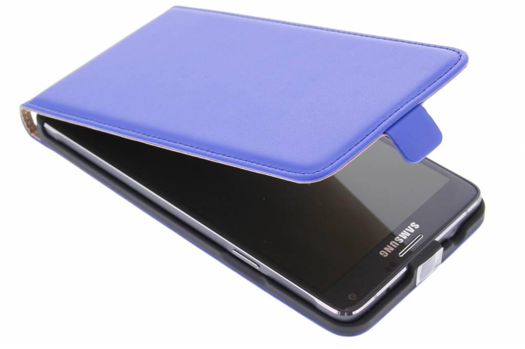 Blauwe luxe flipcase voor de Samsung Galaxy Note 4