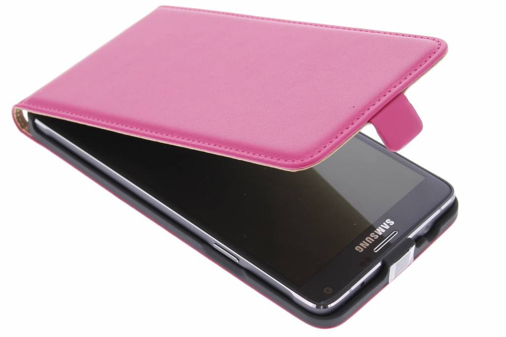 Fuchsia luxe flipcase voor de Samsung Galaxy Note 4
