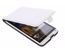 Wit luxe flipcase HTC Desire 816