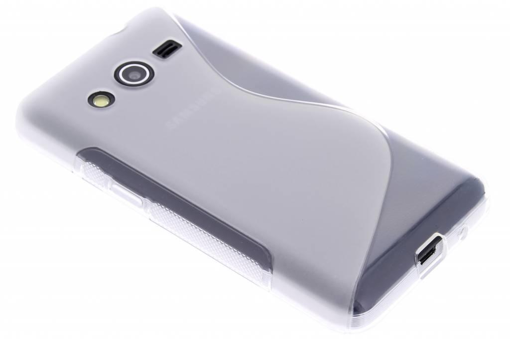 Transparant S-line TPU hoesje voor de Samsung Galaxy Core 2