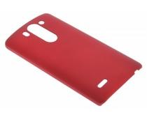 Rood effen hardcase hoesje LG G3 S