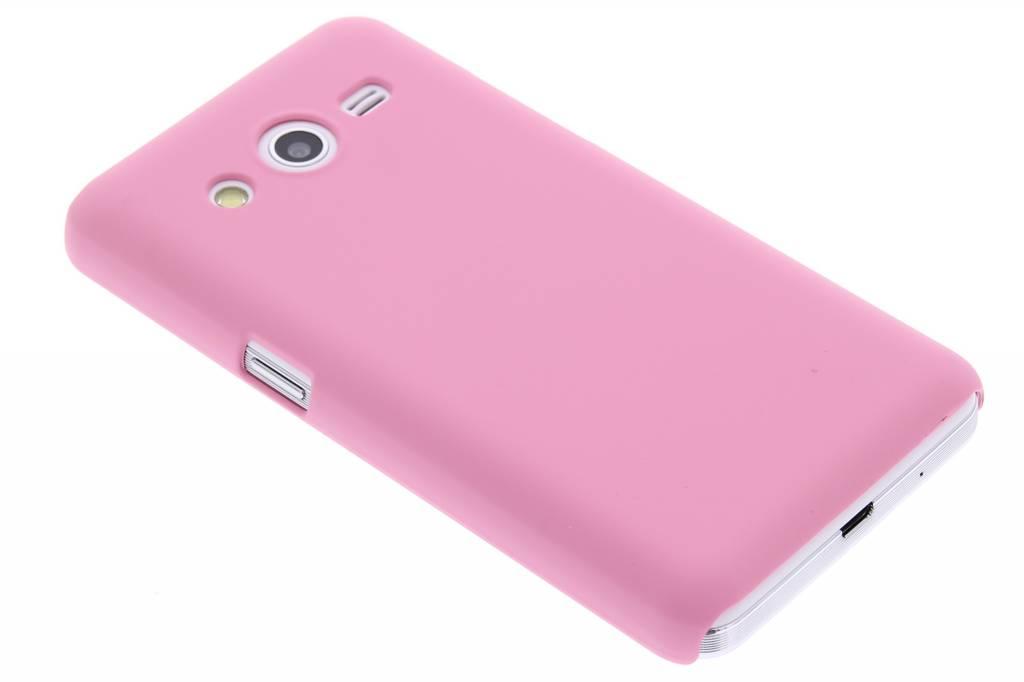 Roze effen hardcase hoesje voor de Samsung Galaxy Core 2