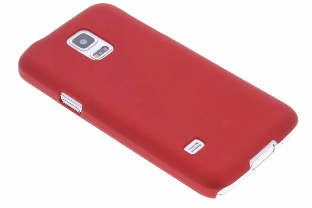 Rood effen hardcase hoesje voor de Samsung Galaxy S5 Mini