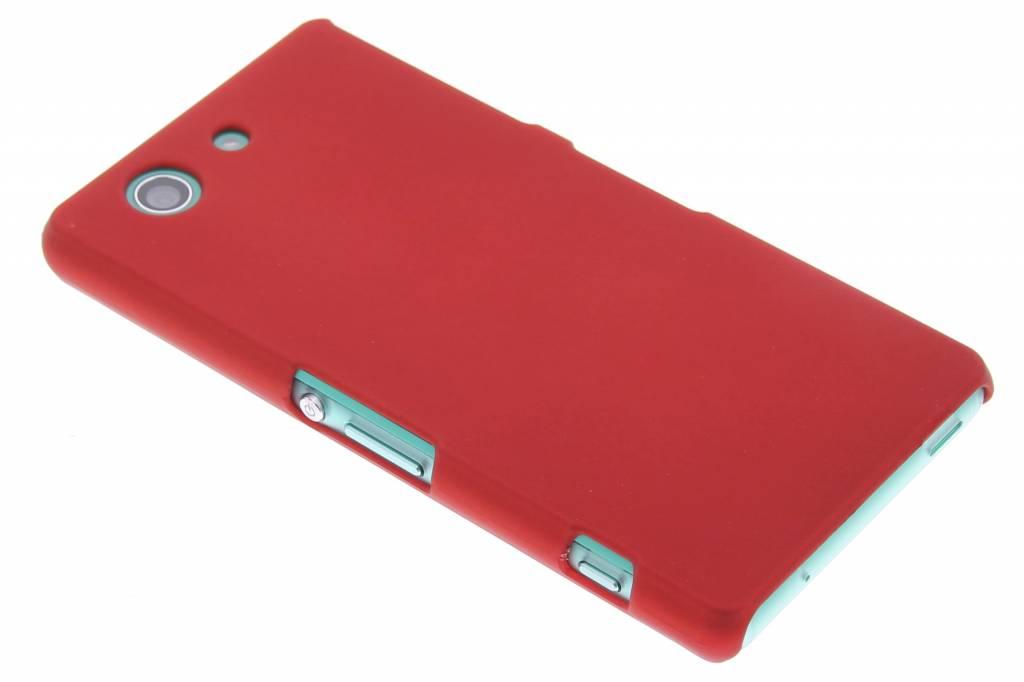 Rood effen hardcase hoesje voor de Sony Xperia Z3 Compact