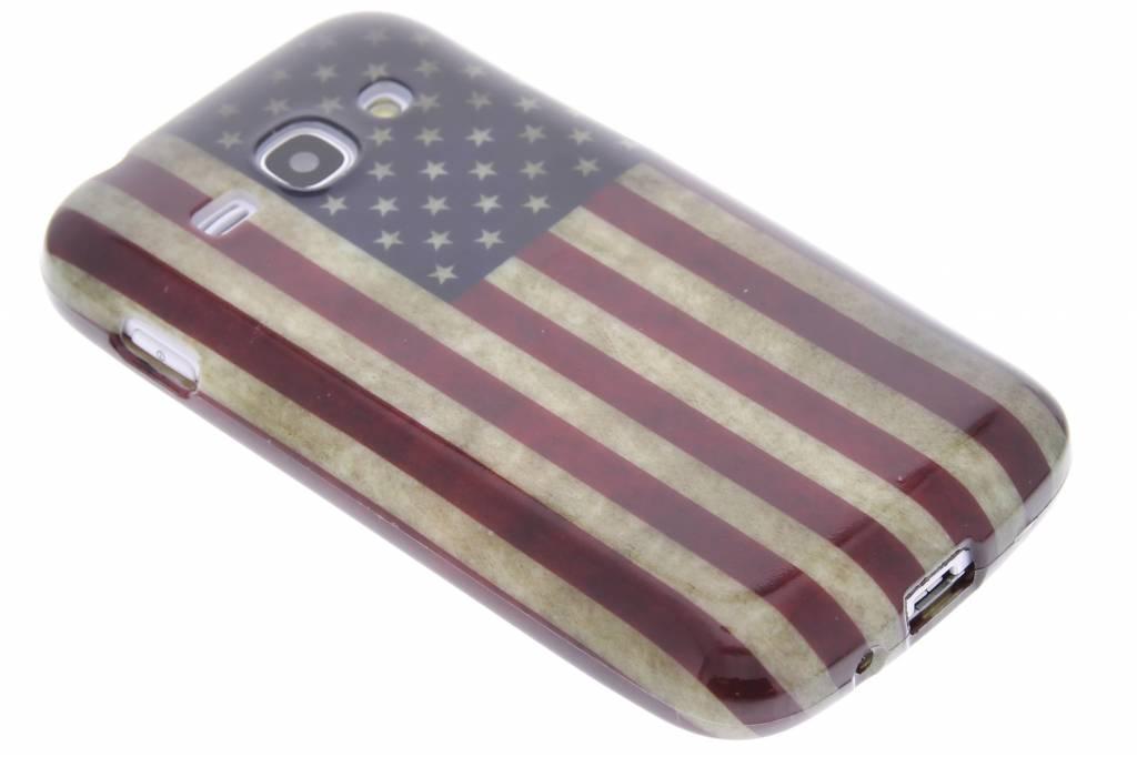 Amerikaanse vlag design TPU siliconen hoesje voor de Samsung Galaxy Ace 3