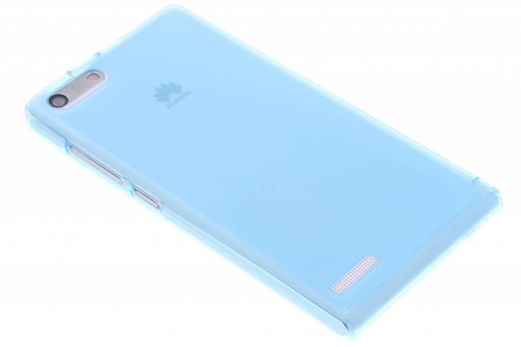 Turquoise hard siliconen hoesje voor de Huawei Ascend G6
