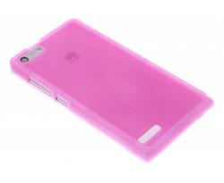 Rosé hard siliconen hoesje Huawei Ascend G6