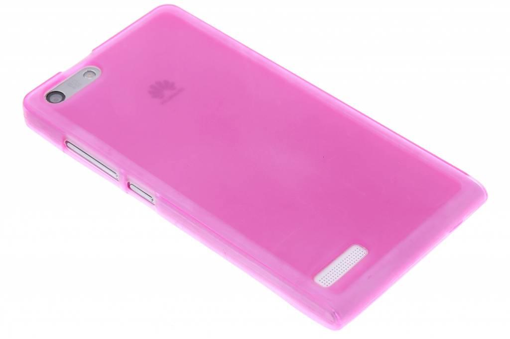 Rosé hard siliconen hoesje voor de Huawei Ascend G6